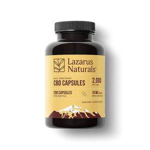 lazarus naturals 10mg cbd capsules 200ct