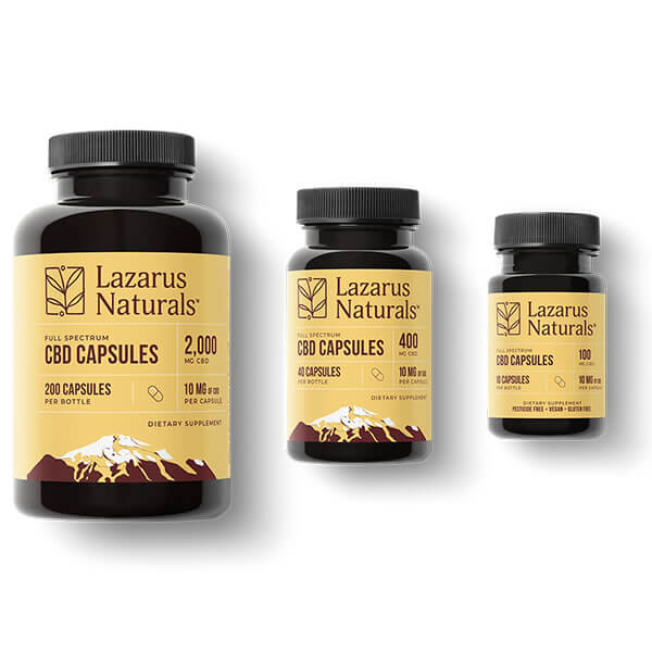 lazarus naturals cbd capsules all sizes
