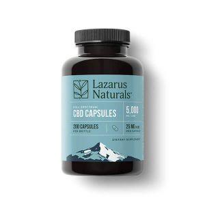 lazarus naturals cbd capsules 25mg