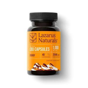 cbd capsules energy lazarus 40ct