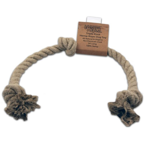 hemp rope dog toy large