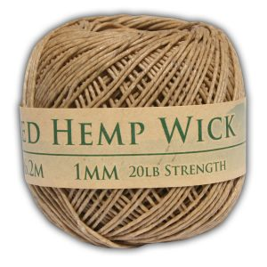 hemp wick 250ft roll