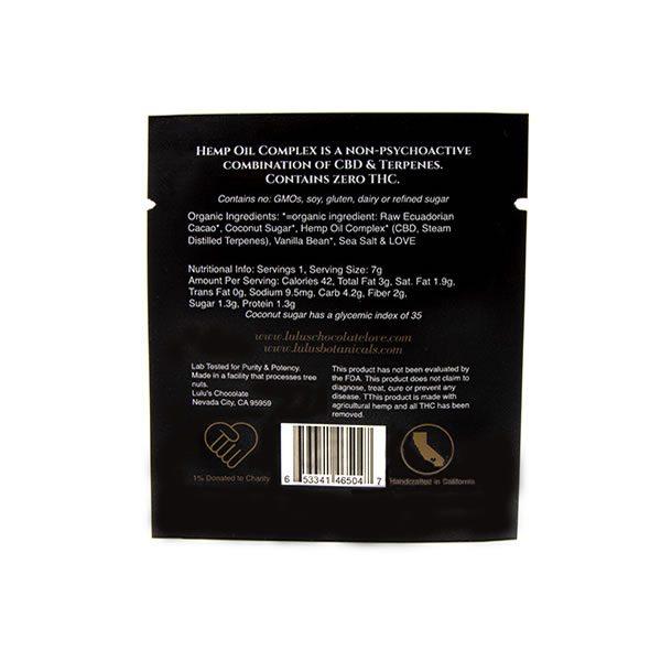 cbd chocolate ingredients