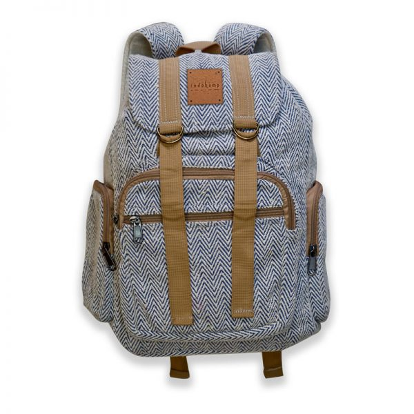 hemp rucksack backpack blue