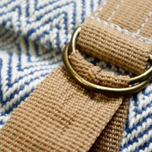 hemp bag detail closeup
