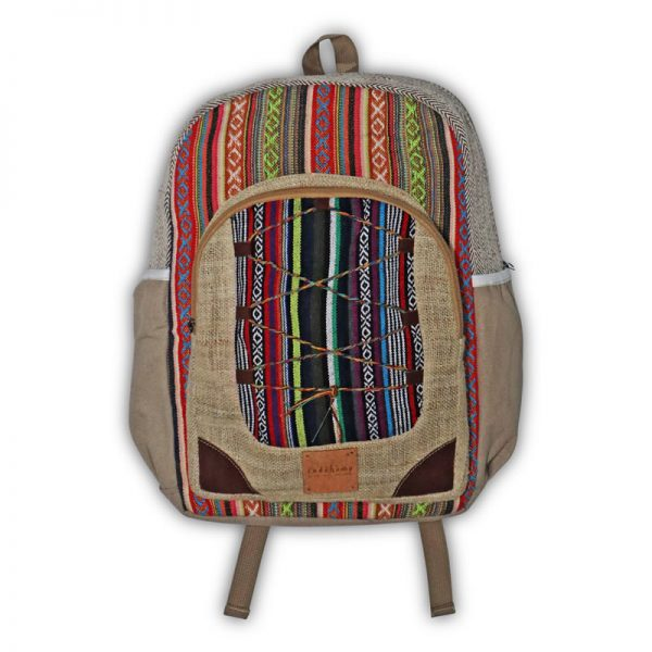 hemp backpack tribal style