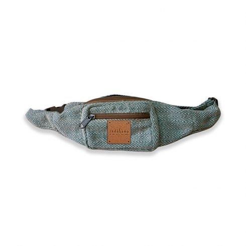 blue hemp fanny pack