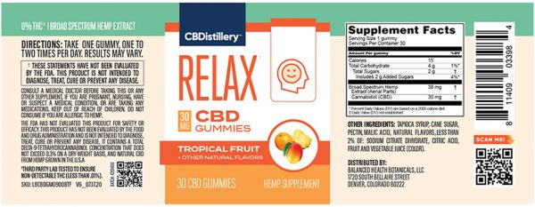gummies label