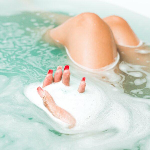 bath bomb dissolved in tub