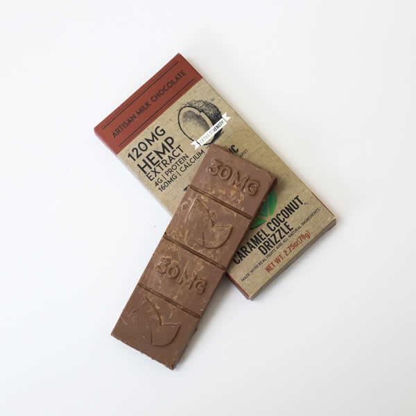 cbd milk chocolate side