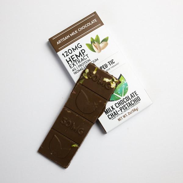 cbd chocolate chai pistachio