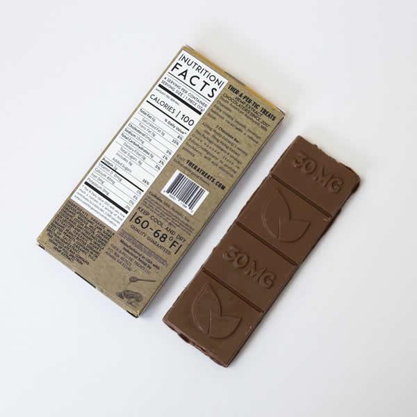 cbd chocolate bar back
