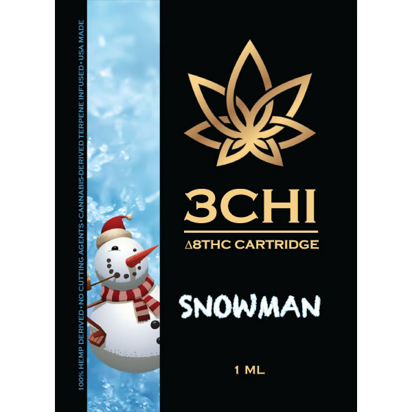 delta 8 thc snowman strain