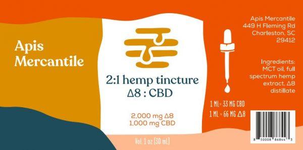 delta-8 tincture label