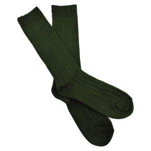 green hemp crew socks