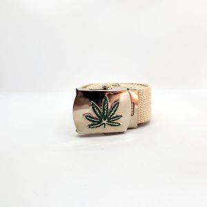 hemp belt leaf buckle