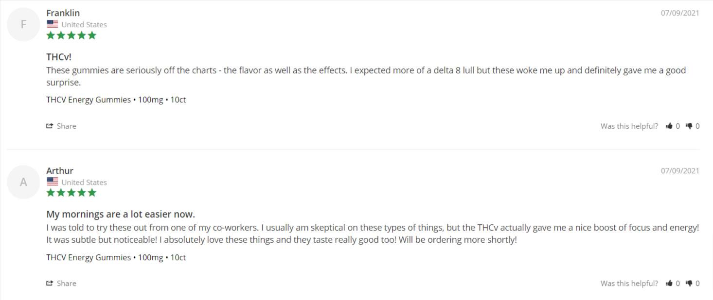reviews screenshot