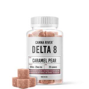delta 8 gummies 25mg caramel pear