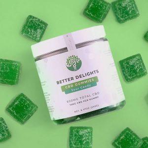 CBD gummies sour candy better delights