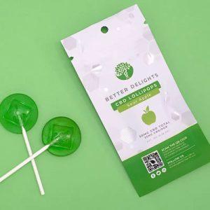 cbd lollipops sour apple