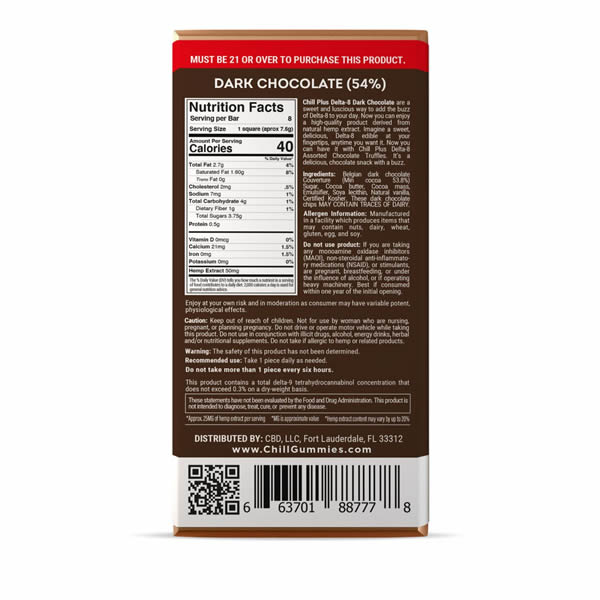 chocolate bar back wrapper